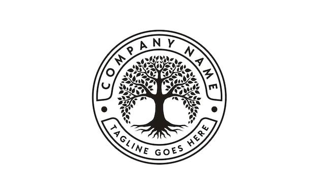 Inspiração de design de logotipo da árvore da vida