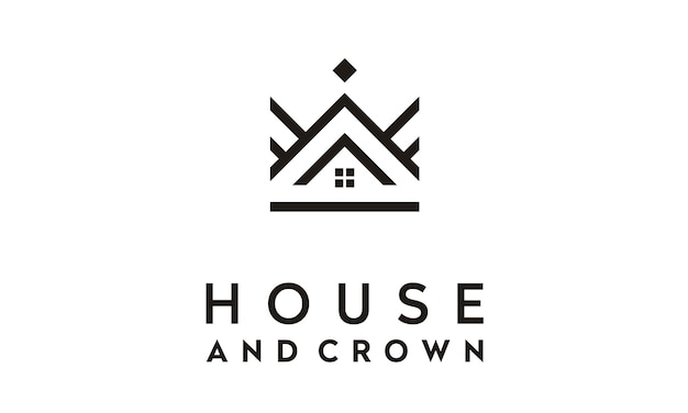 Inspiração de design de logotipo da crown house