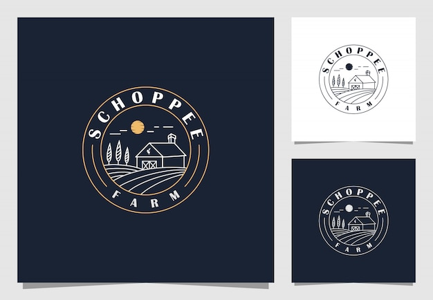 Inspiração de design de logotipo de agricultura