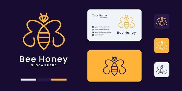 Inspiração de design de logotipo de animais de abelha mel.