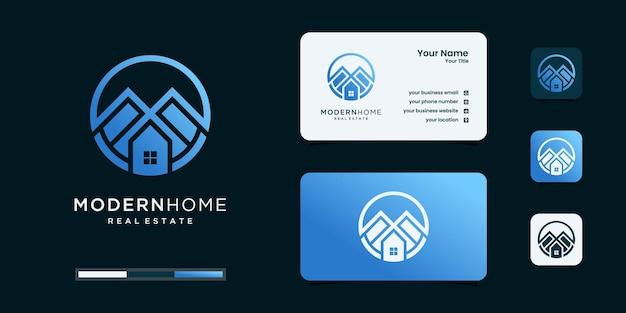 Inspiração de design de logotipo de arquitetura de luxo