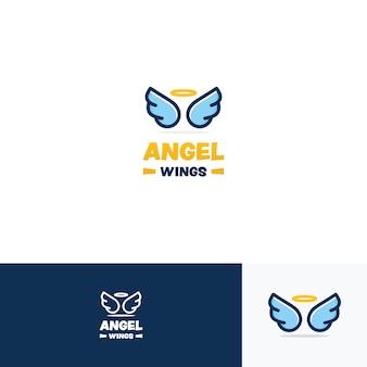 Inspiração de design de logotipo de asas de anjo