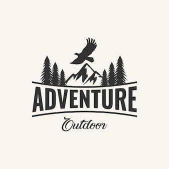 Inspiração de design de logotipo de aventura,