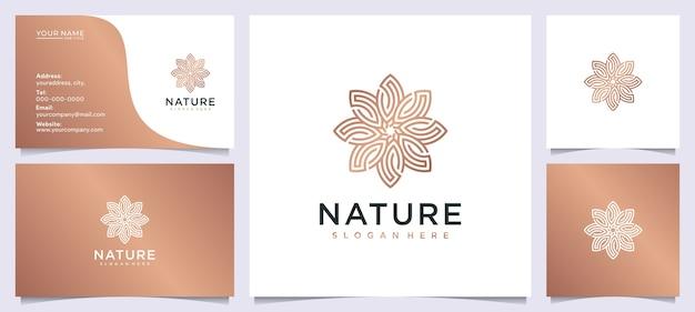 Inspiração de design de logotipo de beleza de flores para salão de beleza