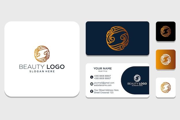 Inspiração de design de logotipo de beleza inicial e de identidade ornamento para empresa e cartão de visita premium vector