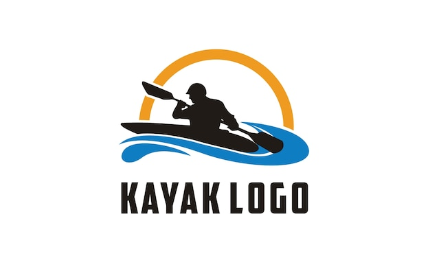 Inspiração de design de logotipo de caiaque