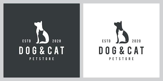 Inspiração de design de logotipo de cão e gato