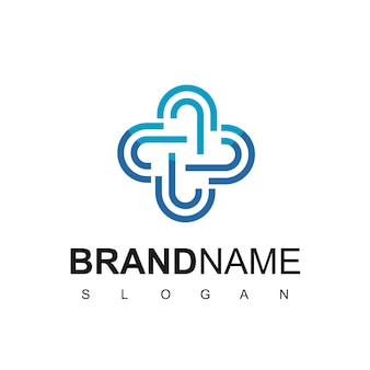 Inspiração de design de logotipo de cuidados de saúde