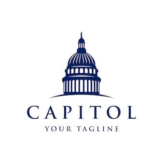 Inspiração de design de logotipo de cúpula do capitólio