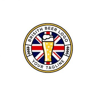 Inspiração de design de logotipo de emblema de cerveja britânica