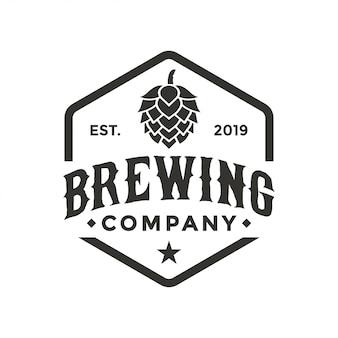 Inspiração de design de logotipo de empresa de fabricação de cerveja