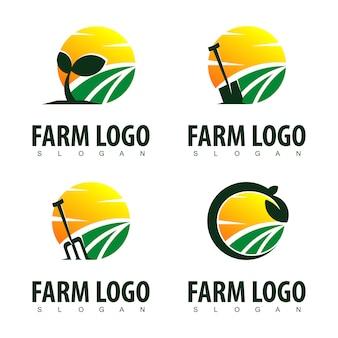 Inspiração de design de logotipo de fazenda