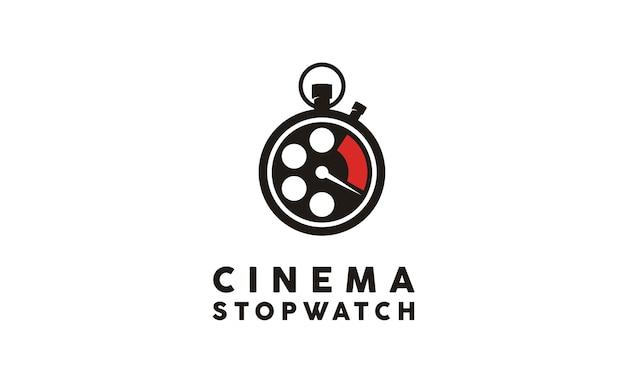 Inspiração de design de logotipo de filme temporizador