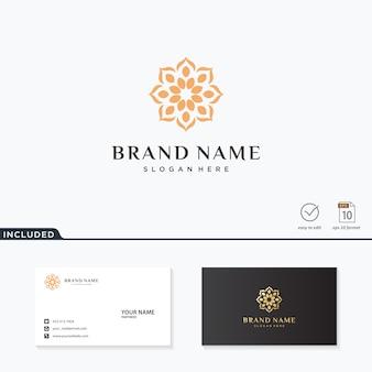 Inspiração de design de logotipo de flor abstrata
