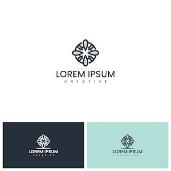 Inspiração de design de logotipo de flor