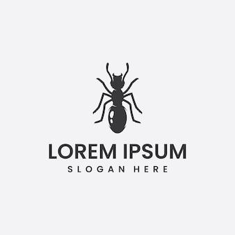 Inspiração de design de logotipo de formiga