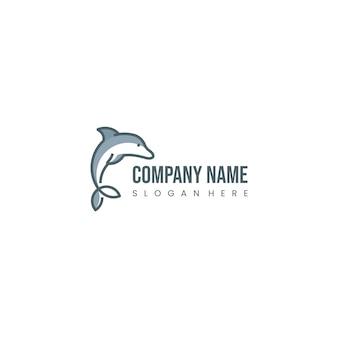 Inspiração de design de logotipo de golfinho