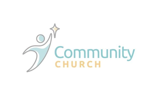 Inspiração de design de logotipo de igreja comunitária