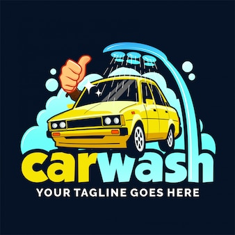 Inspiração de design de logotipo de lavagem de carro