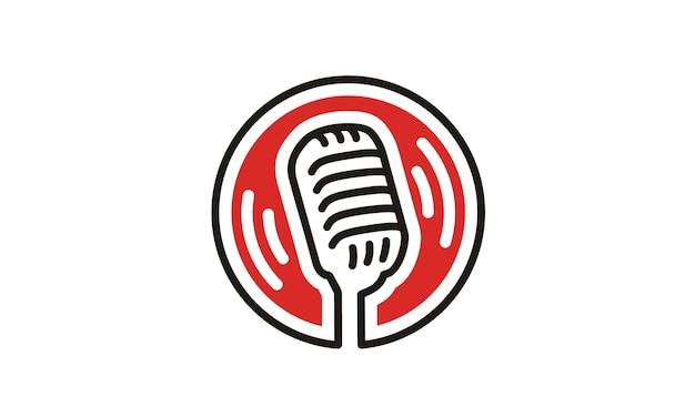 Inspiração de design de logotipo de microfone