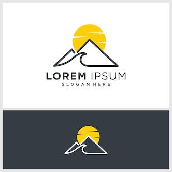 Inspiração de design de logotipo de montanha legal, minimalista, ideias, conceito moderno, premium vector
