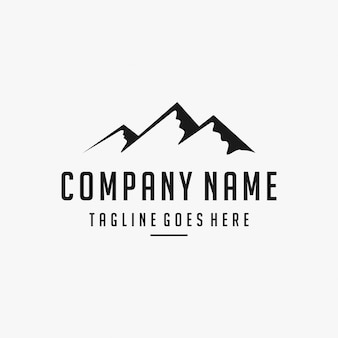 Inspiração de design de logotipo de montanha