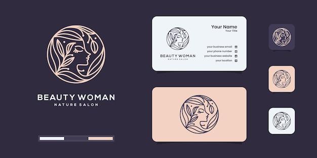 Inspiração de design de logotipo de mulher de spa de beleza luxuosa