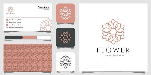 Inspiração de design de logotipo de ornamento floral elegante minimalista com estilo de arte linha. cosméticos, spa, salão de beleza decoração logotipo e cartão de visita