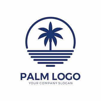 Inspiração de design de logotipo de palma