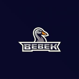 Inspiração de design de logotipo de pato incrível