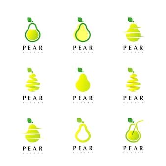 Inspiração de design de logotipo de pêra