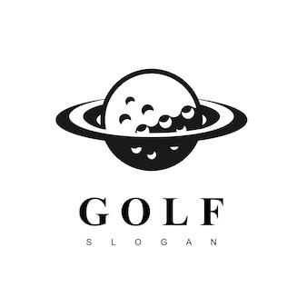 Inspiração de design de logotipo de planeta de golfe