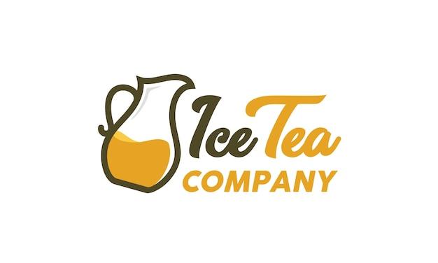 Inspiração de design de logotipo de pote de chá