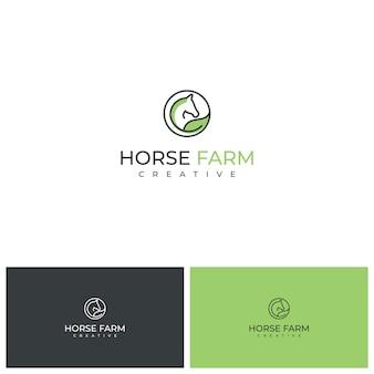 Inspiração de design de logotipo de saúde de cavalo