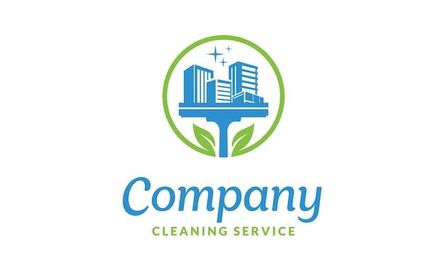 Inspiração de design de logotipo de serviço de limpeza