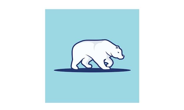 Inspiração de design de logotipo de urso polar