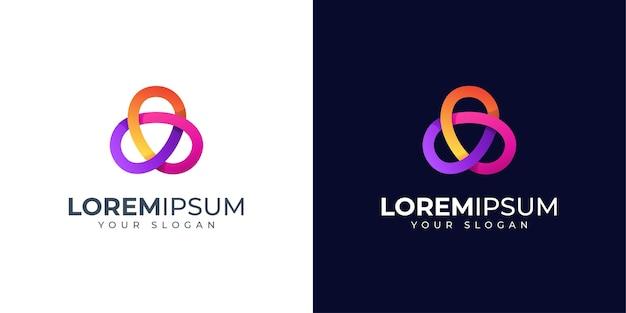 Inspiração de design de logotipo infinito abstrato