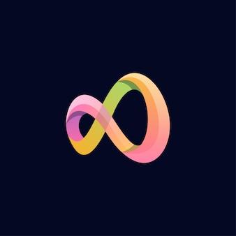 Inspiração de design de logotipo infinito incrível