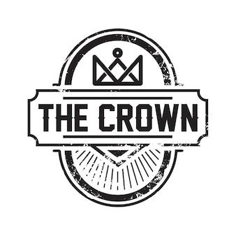Inspiração de design de logotipo linha arte coroa Vintage / Royal