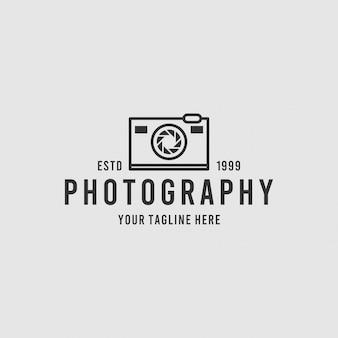 Inspiração de design de logotipo minimalista de fotografia