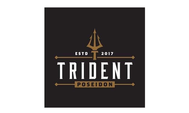 Inspiração de design de logotipo trident