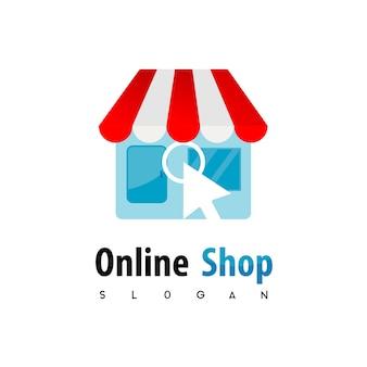 Inspiração de dsign do logotipo de onlineshop
