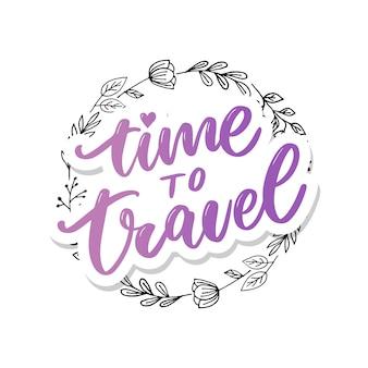 Inspiração de estilo de vida viagens cita letras. tipografia motivacional.