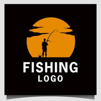 Inspiração de ilustração de projeto de pesca de menino
