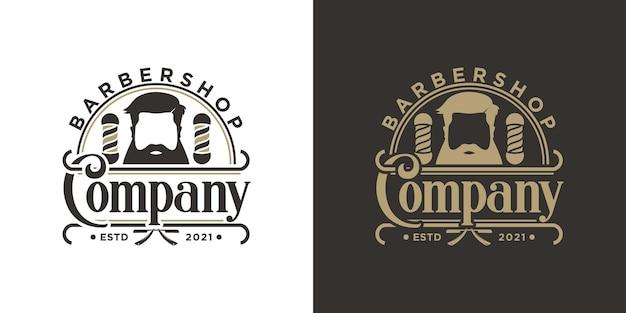 Inspiração de logotipo de barbearia vintage