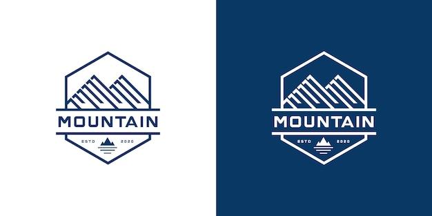 Inspiração de logotipo de marketing de montanha