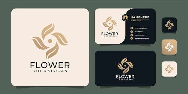 Inspiração de logotipo de vetor de elementos criativos de beleza de luxo