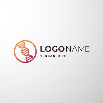 Inspiração de logotipo genético para empresa médica.