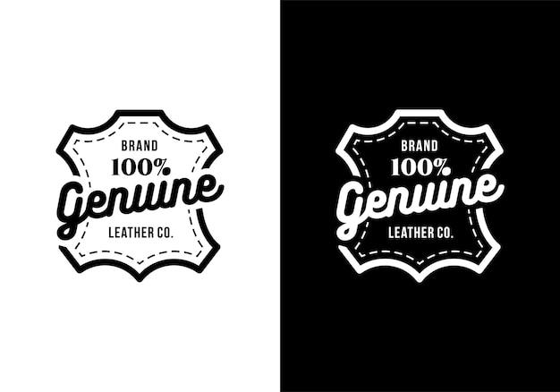 Inspiração de modelo de design de marca de couro genuíno
