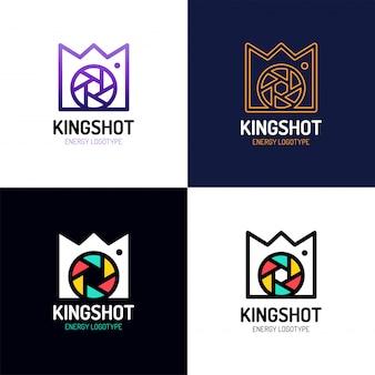 Inspiração de vetor de ícone de logotipo coroa real